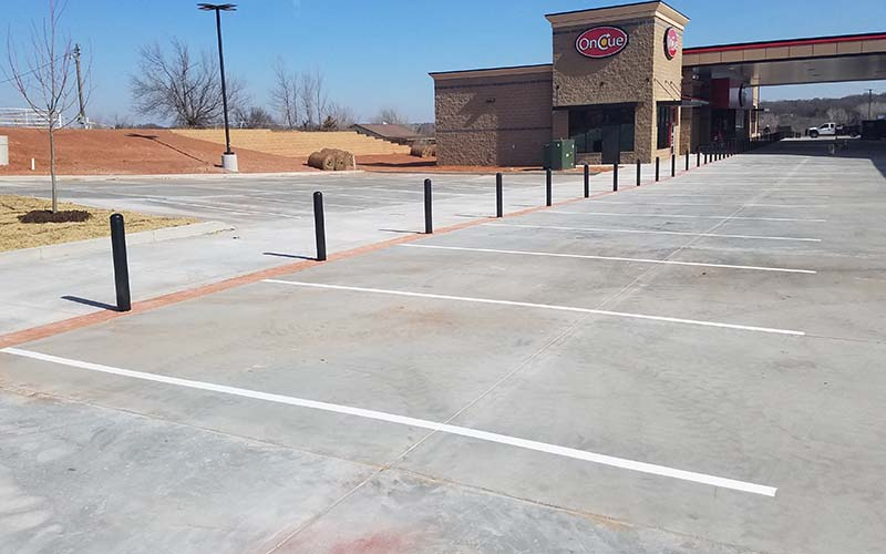 Sealcoating & Striping Gas Station Parking Lot